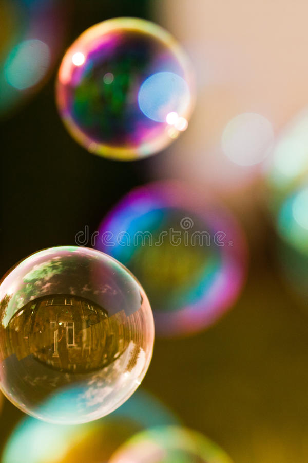 Burbujas y reflexiones imágenes de archivo libres de regalías