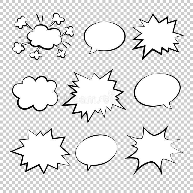 Burbujea el ejemplo cómico del duddle del vector del estilo libre illustration