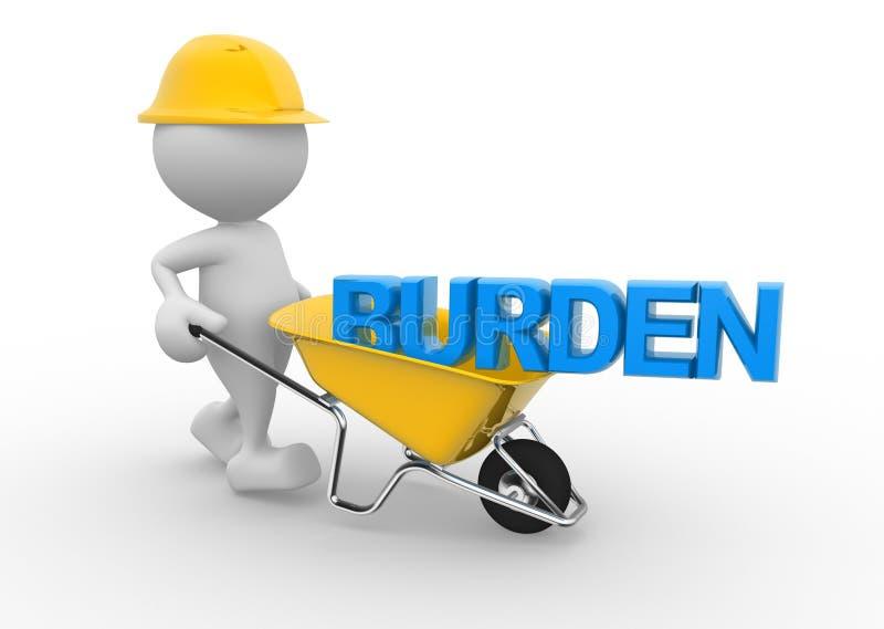 Burden stock illustration