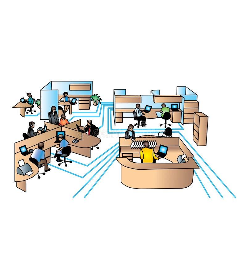 Bureau illustration de vecteur