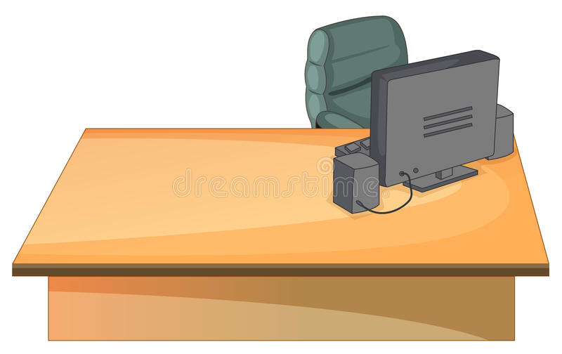 Bureau illustration stock