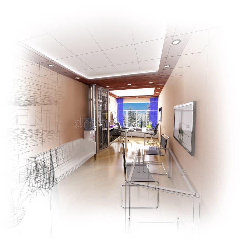 Bureau 3d Moderne Image stock