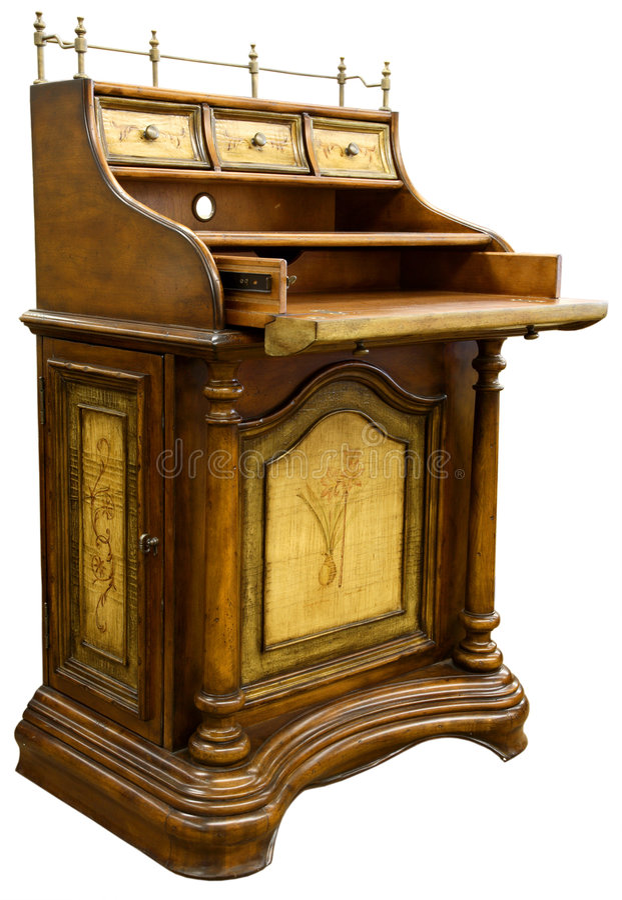 Bureau antique photographie stock