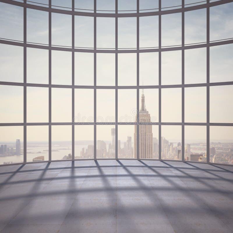 Bureau avec la grande fenêtre photographie stock