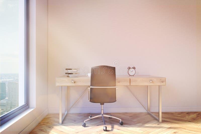 Bureau avec la tonalité d'espace de travail illustration de vecteur