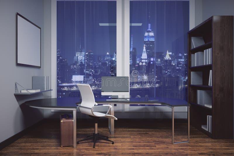 Bureau avec le cadre de tableau vide illustration de vecteur