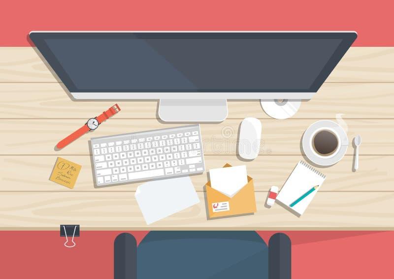 Bureau avec n cessaire pour des choses studing for Bureau concept la sarre