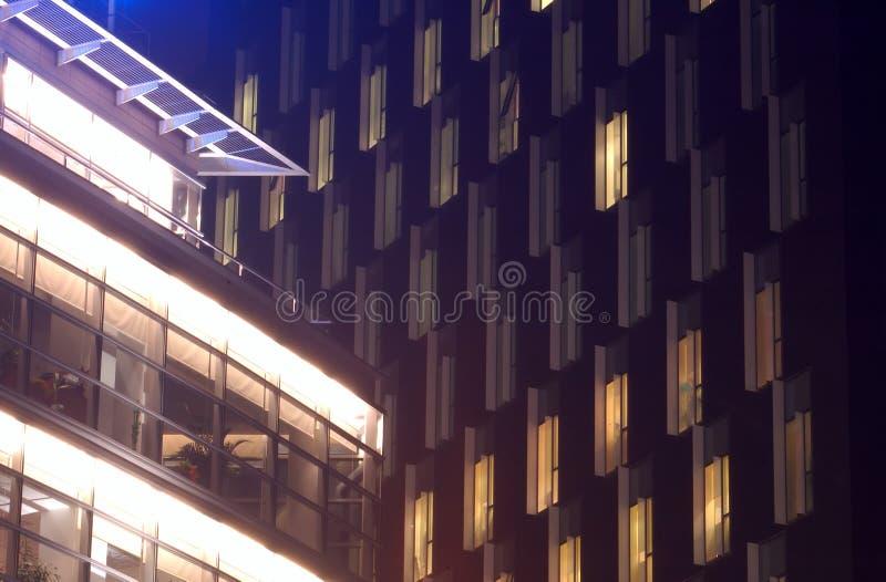 Bureau bij nacht 1 royalty-vrije stock foto