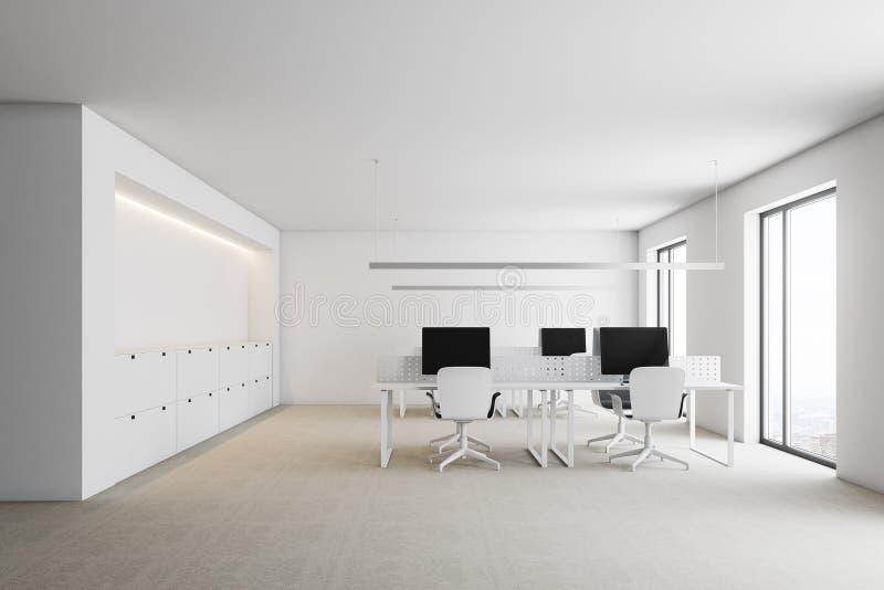 Bureau blanc moderne mur illustration stock illustration du