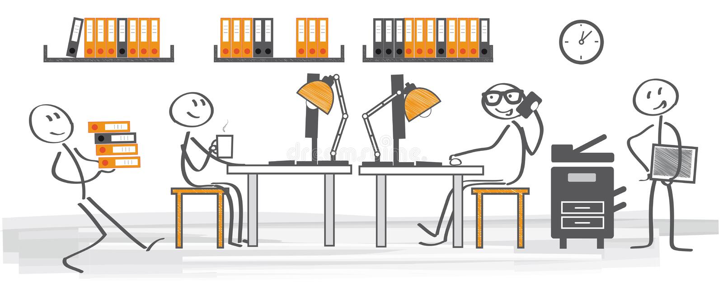 Bureau - bureaubaan stock illustratie