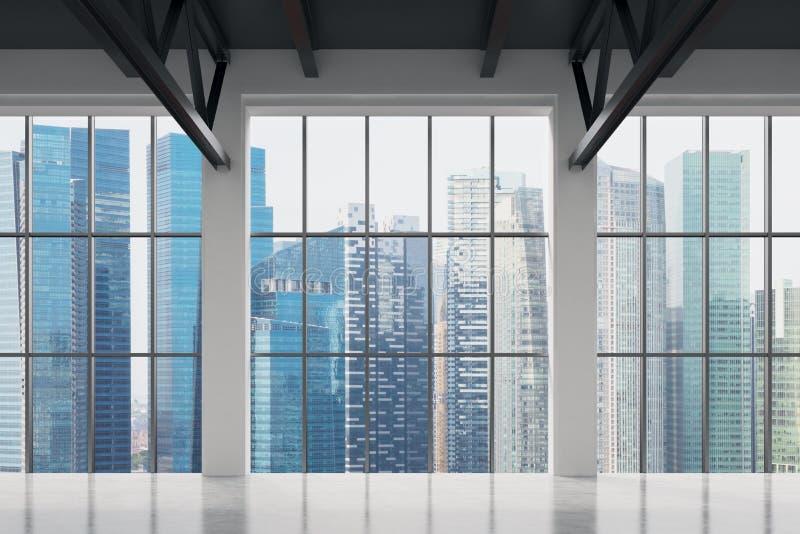 Bureau contemporain avec la vue de Singapour Centre de la ville financier images stock