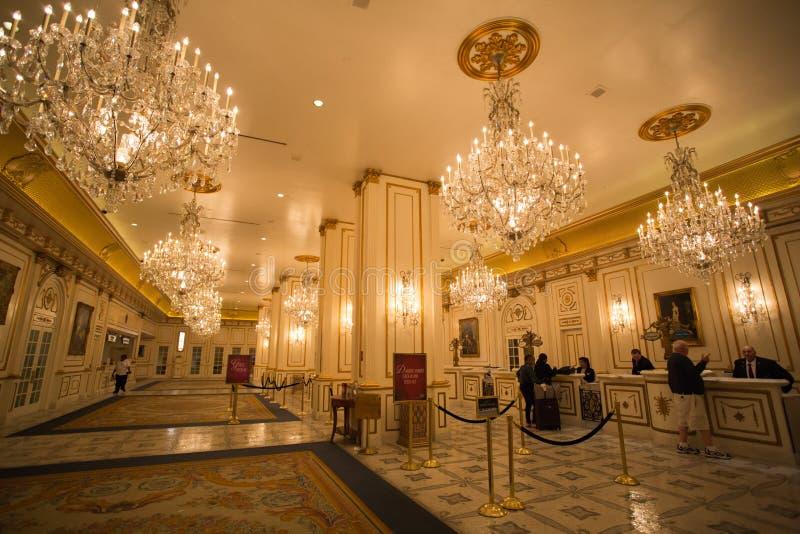 Bureau d'enregistrement à l'hôtel de Paris à Las Vegas photographie stock