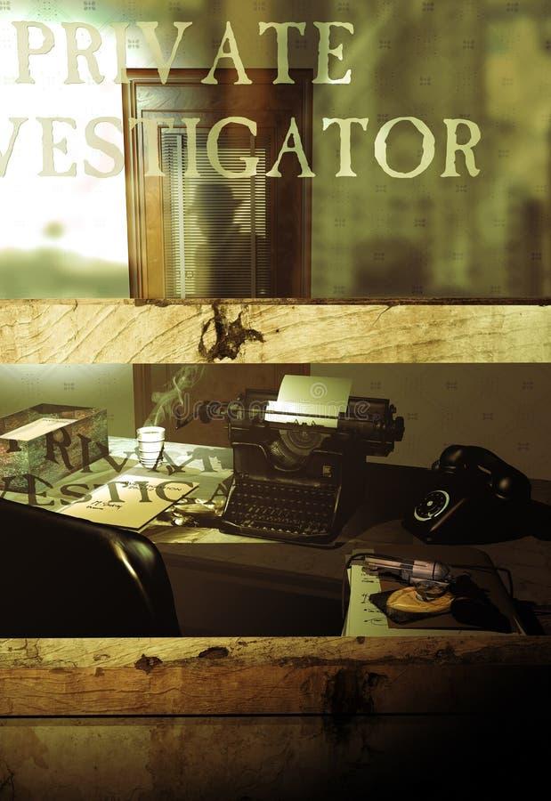 Bureau d'investigateur privé illustration de vecteur