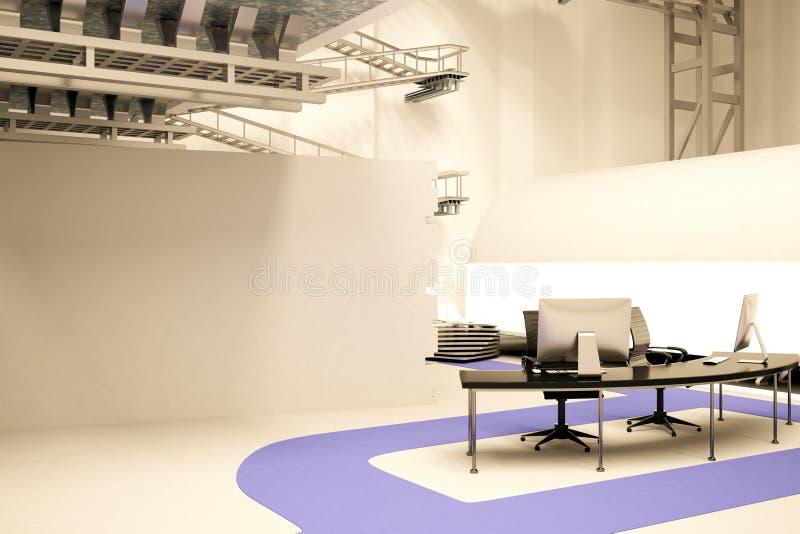 Bureau dans le bureau futuriste illustration stock