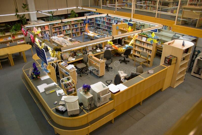 Bureau de bibliothèque image libre de droits