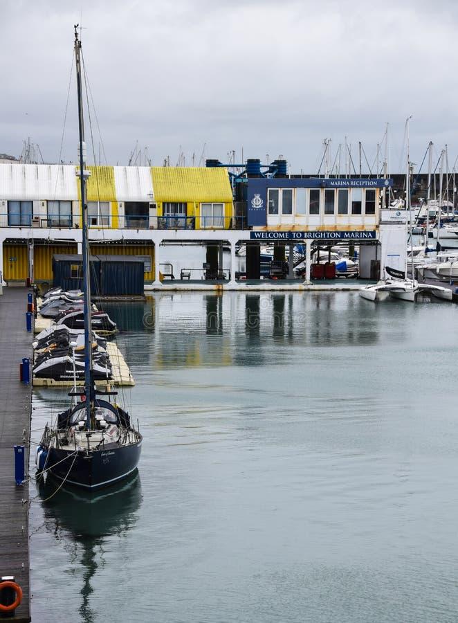 Bureau de Brighton Marina photo libre de droits