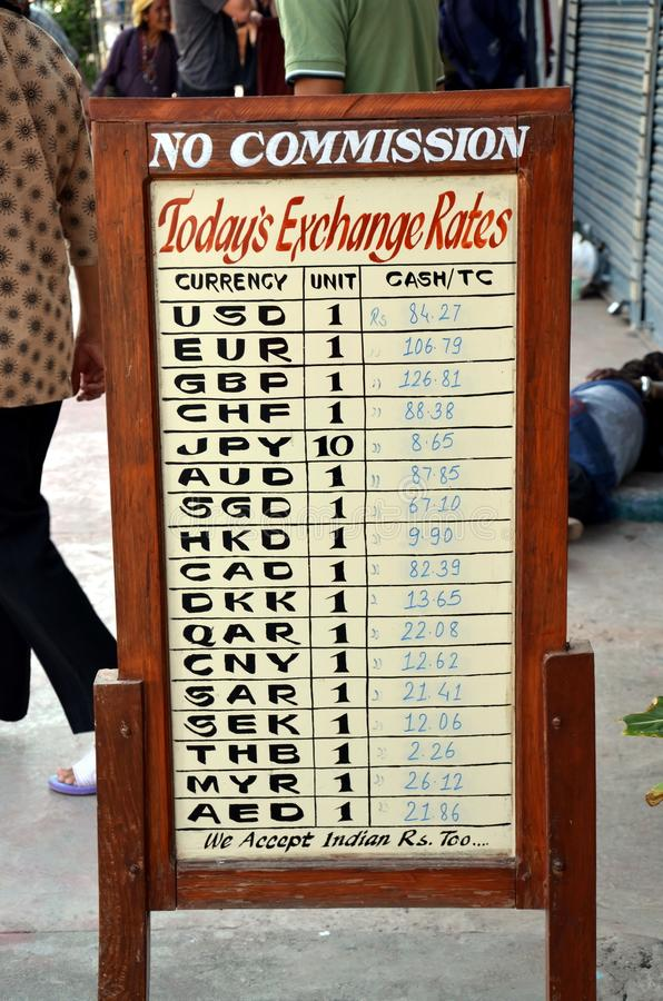 Bureau de change au Népal images stock