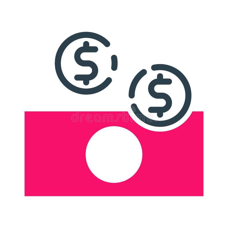 Bureau de créativité de conception de développement de stratégie commerciale d'icône de pièces de monnaie d'argent de concept de  illustration de vecteur