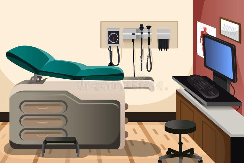 Bureau de docteur illustration stock