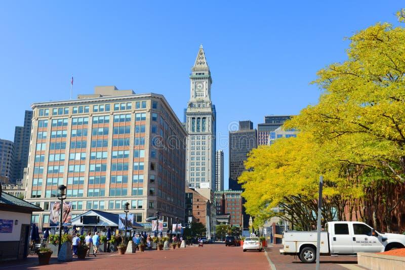 Bureau de douane de Boston dans le district financier photographie stock
