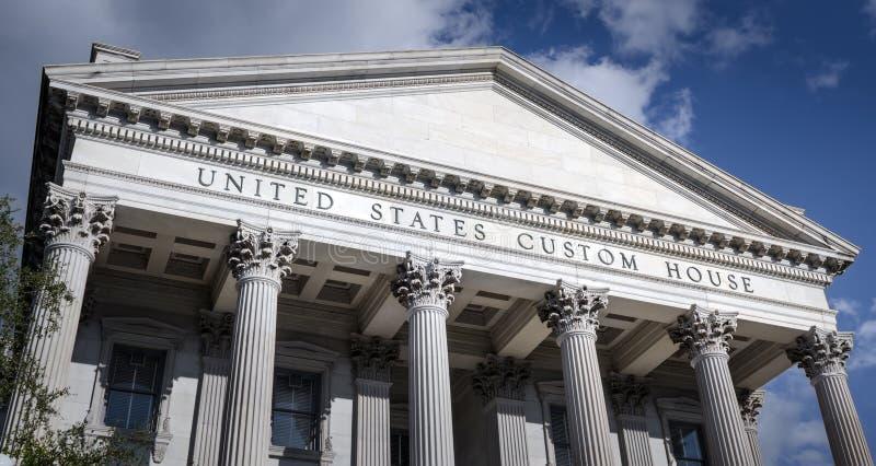 Bureau de douane historique des Etats-Unis à Charleston du centre, la Caroline du Sud image stock