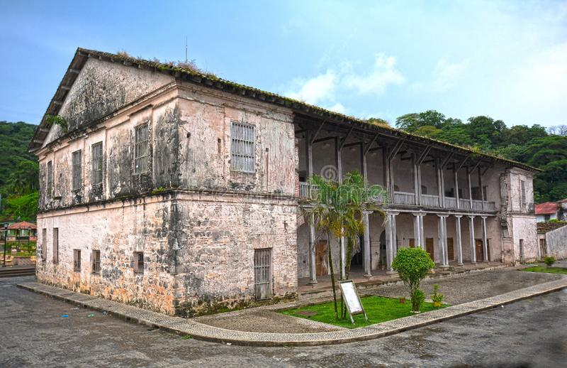 Bureau de douane royal de Portobelo, Panama photographie stock