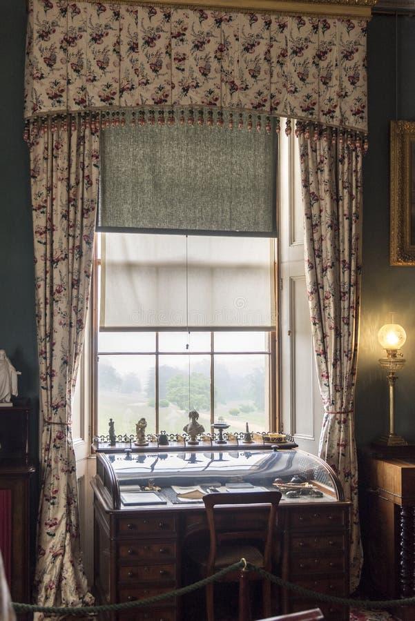 Bureau de fenêtre en Chambre d'Osborne image stock