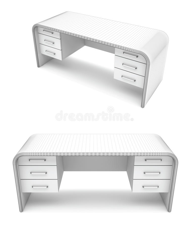 bureau de Fil-trame illustration de vecteur