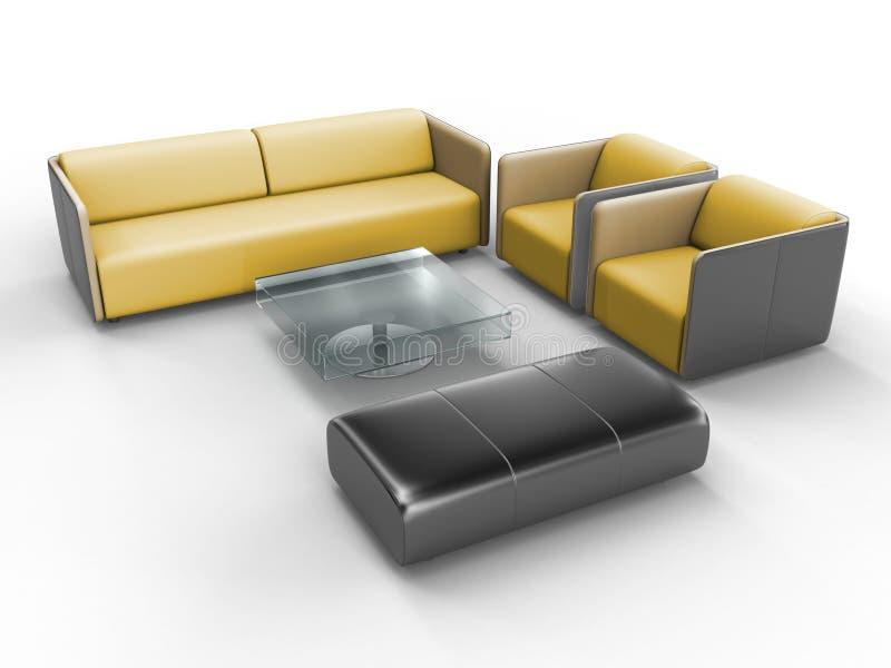 bureau de meubles illustration de vecteur