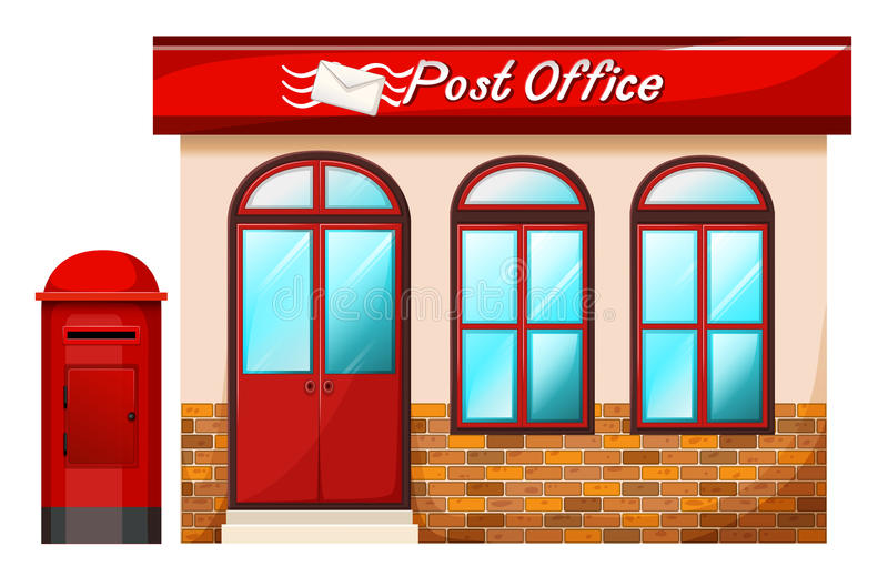 Bureau de poste illustration stock