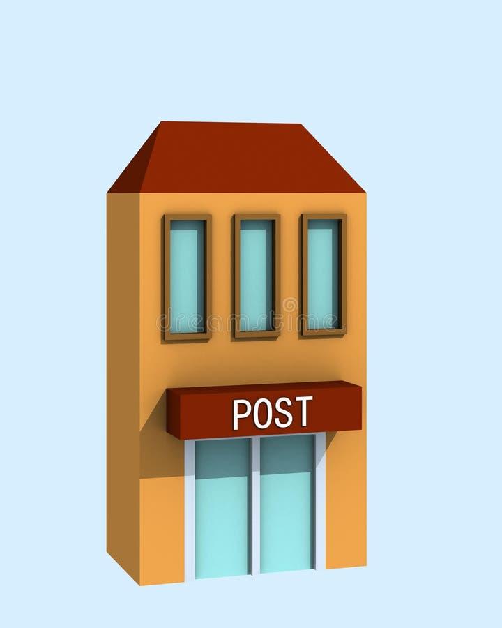 Bureau de poste illustration de vecteur