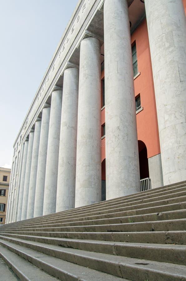 Bureau de poste central, Palerme, étapes d'entrée photos stock