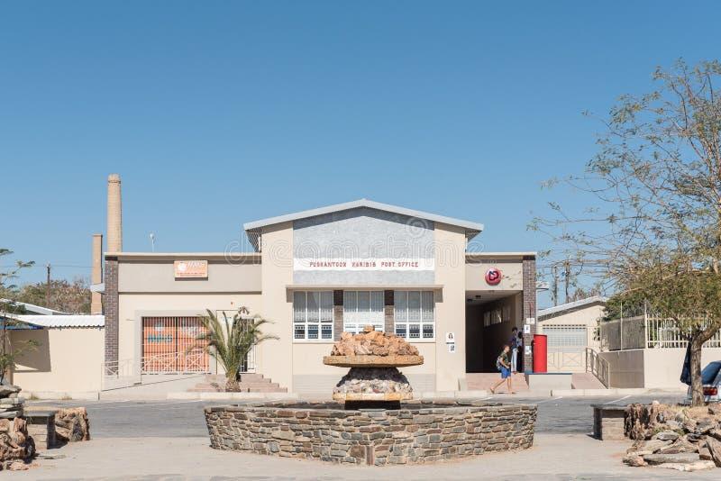 Bureau de poste dans Karibib, une petite ville en Namibie photos libres de droits