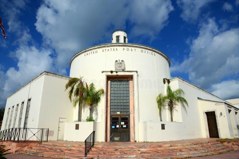Bureau de poste de Miami Beach (33119) photographie stock