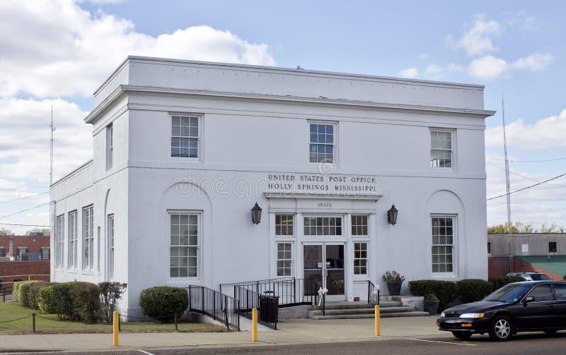 Bureau de poste des Etats-Unis, Holly Springs, milliseconde photographie stock libre de droits