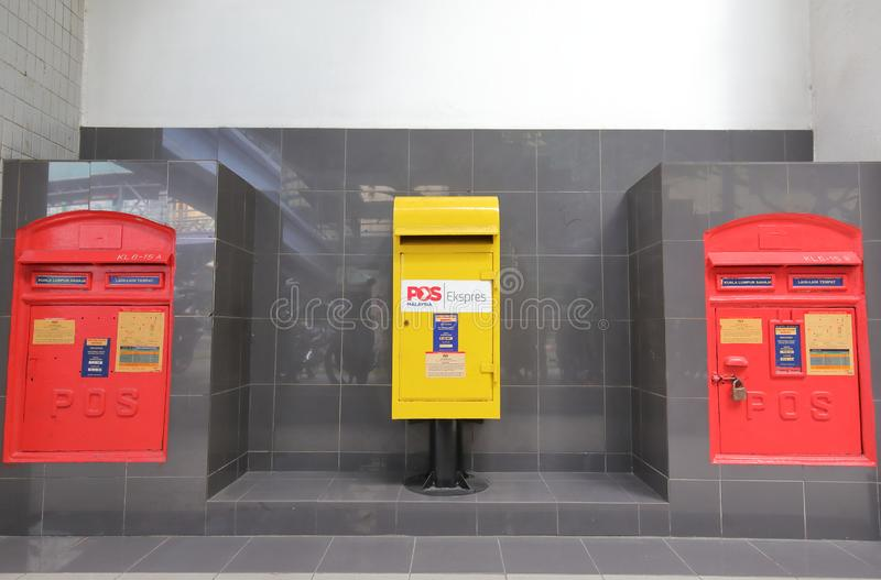 Bureau de poste Kuala Lumpur Malaysia photographie stock libre de droits