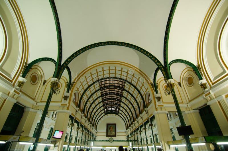 Bureau de poste, Saigon, Ho Chi Minh City, Vietnam image stock