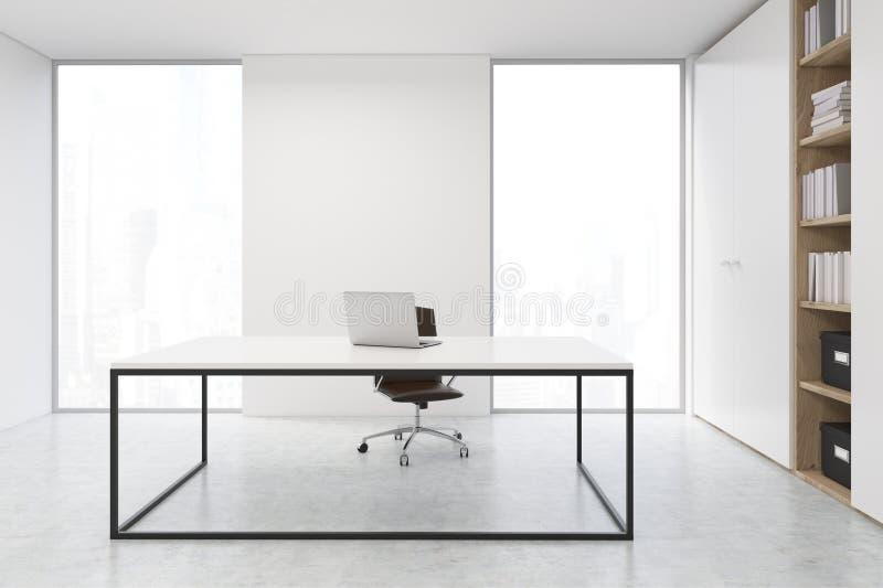 Bureau de Président avec un ordinateur portable illustration stock