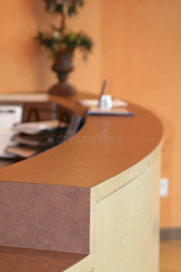 Bureau de réception photos stock