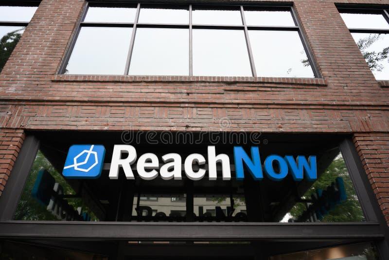 Bureau de ReachNow le jour du service décommandé nationalement photo libre de droits