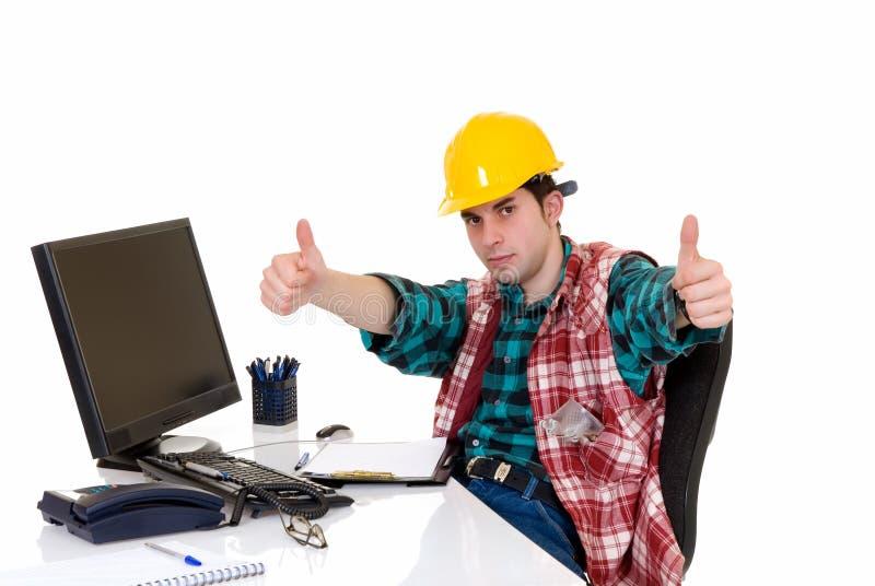 Bureau de superviseur de construction image stock