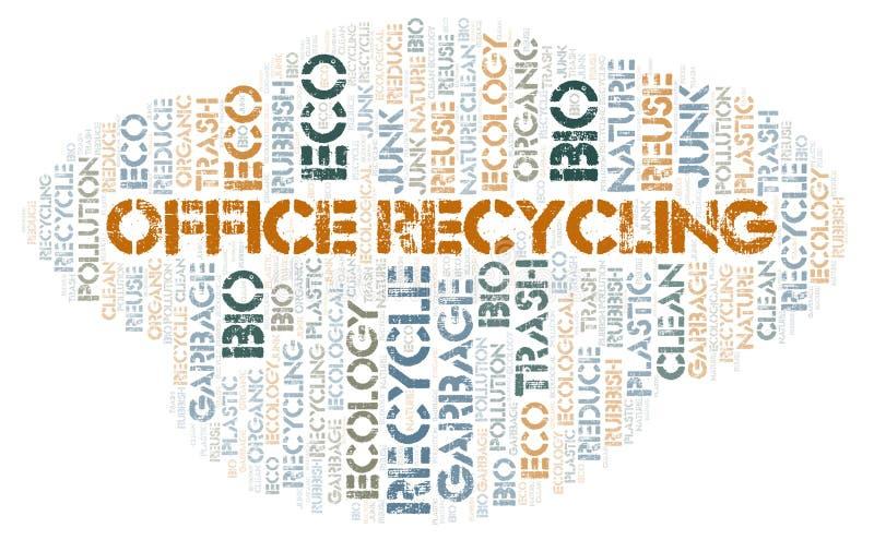 Bureau de wolk van het Recyclingswoord stock illustratie