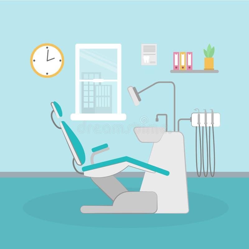 Bureau dentaire simple illustration de vecteur