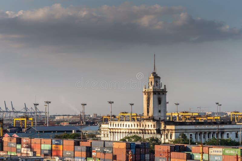 Bureau des douanes à Manille (Philippines) photo libre de droits