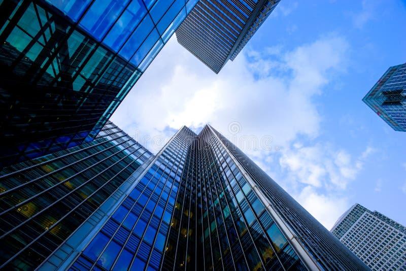 Bureau die van Londen skyscrapper het bouwen stock foto's