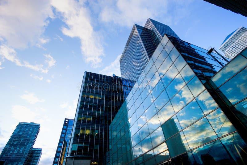 Bureau die van Londen skyscrapper het bouwen stock foto