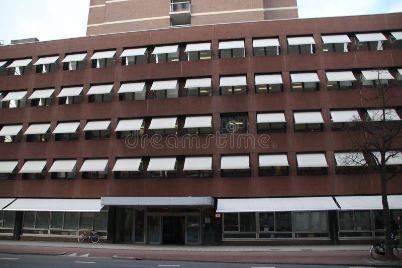 Bureau du centre de service partagé central du ministère de la justice en Den Haag images stock