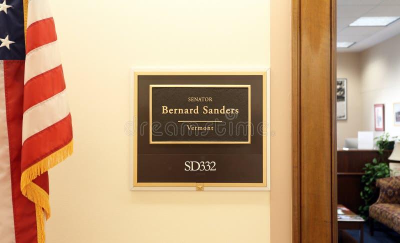 Bureau du sénateur Bernie Sanders des Etats-Unis photos stock