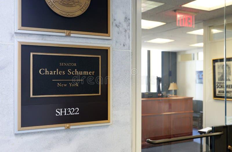 Bureau du sénateur Charles Schumer des Etats-Unis images stock