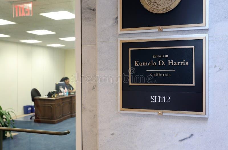 Bureau du sénateur Kamala Harris des Etats-Unis photo libre de droits